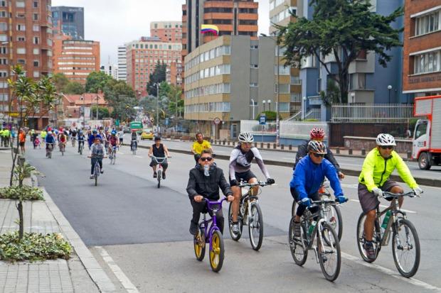 Ciclovia on La Septima, Bogota's main thoroughfare