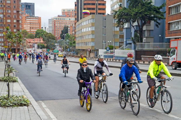 Ciclovia on La Septima, Bogota's main thoroughfare