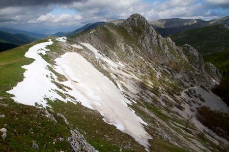 Ridgetop above Pescasseroli, Abruzzo, Lazio and Molise National Park