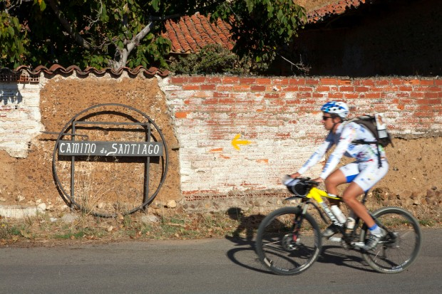 Camino de Santiago sign near León.